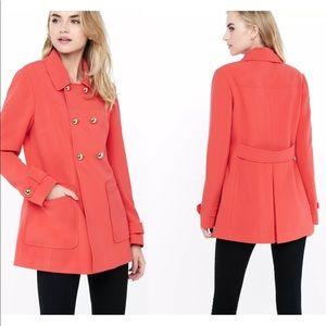 EXPRESS Bing Cherry Red Pea Coat sz Medium